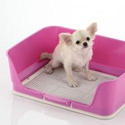 画像1: リッチェル しつけ用ステップ壁付きトイレ レギュラー(ピンク、ブラウン)