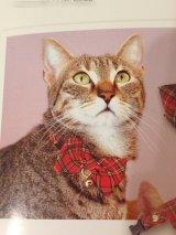 チェックリボンカラー (S、Mサイズ)猫用首輪 Cat Amo.k