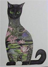 イギリス直輸入 Cat グリーティングカード (Black cat)