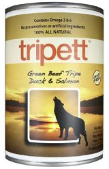 tripett(トライペット) グリーンビーフトライプ ダック&サーモン(396g)